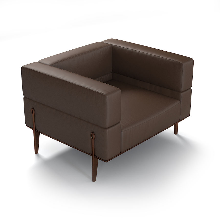 Giorgetti Ago Sofa & Chair royalty-free 3d model - Preview no. 4