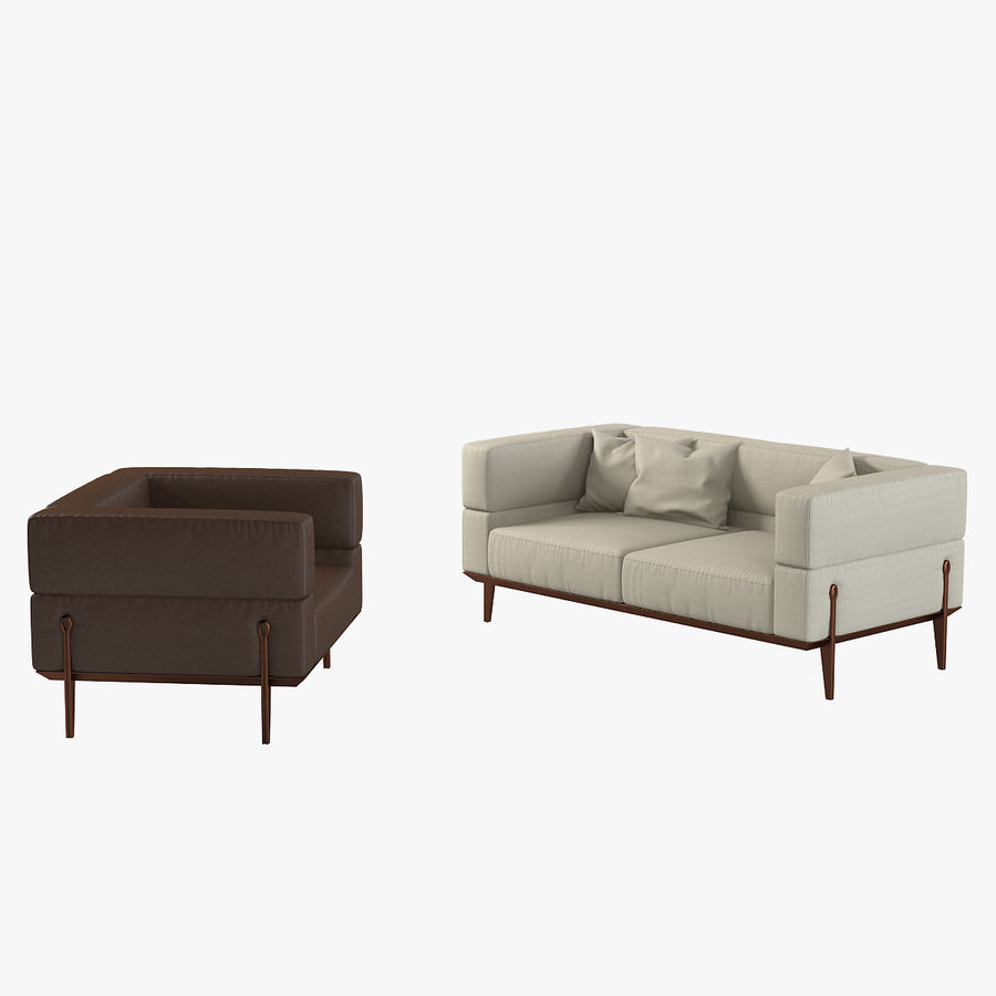 Giorgetti Ago Sofa & Chair royalty-free 3d model - Preview no. 1