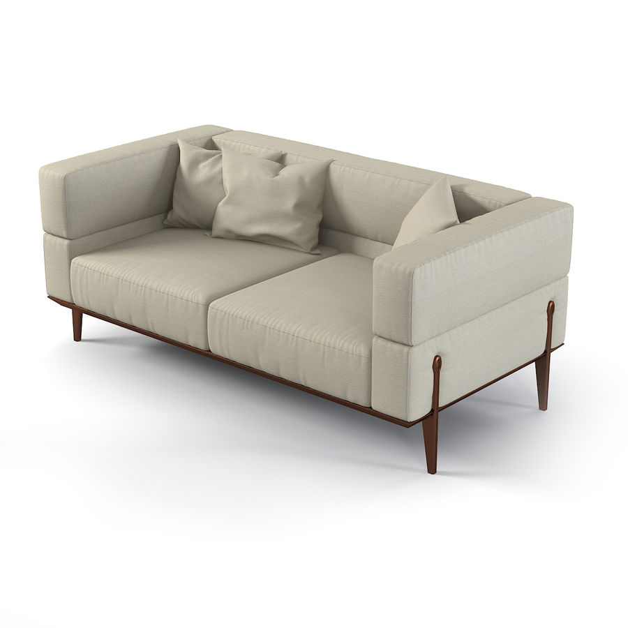 Giorgetti Ago Sofa & Chair royalty-free 3d model - Preview no. 3