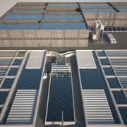 Rioolwaterzuiveringsinstallatie 3d model