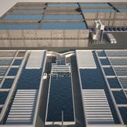 Estação de tratamento de água de esgoto 3d model