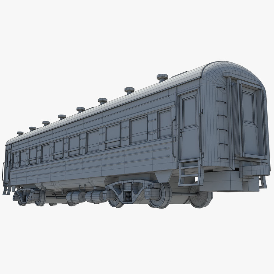 Tågvagn royalty-free 3d model - Preview no. 13