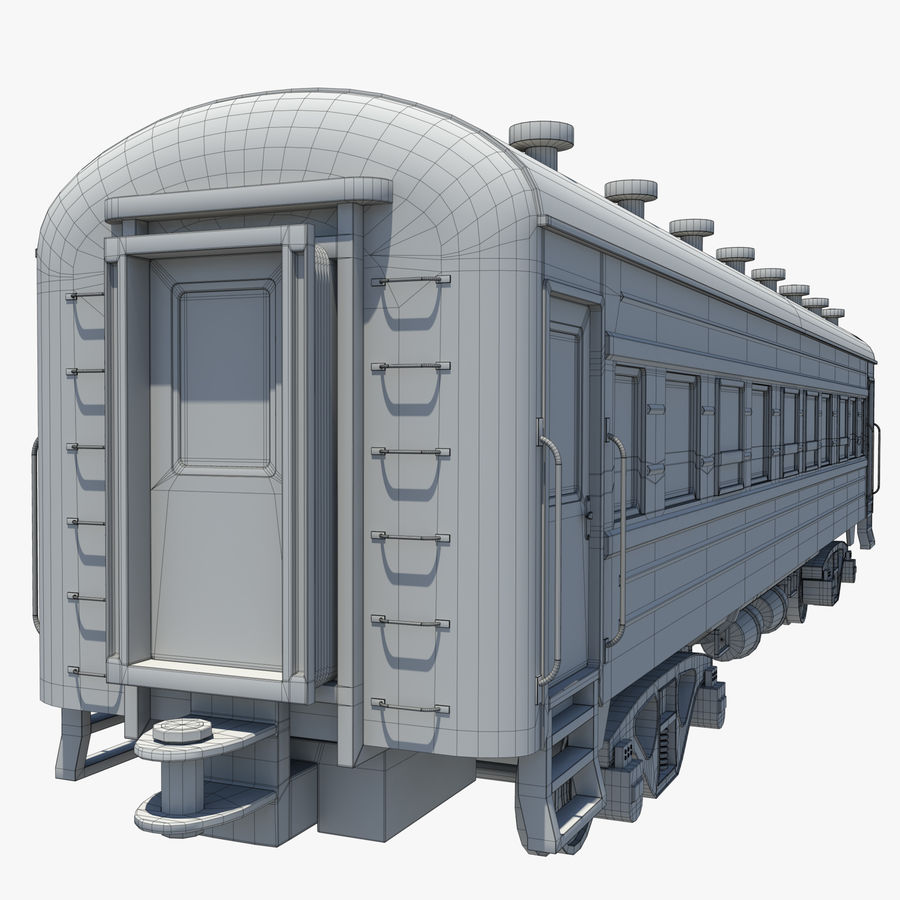 Вагон royalty-free 3d model - Preview no. 12