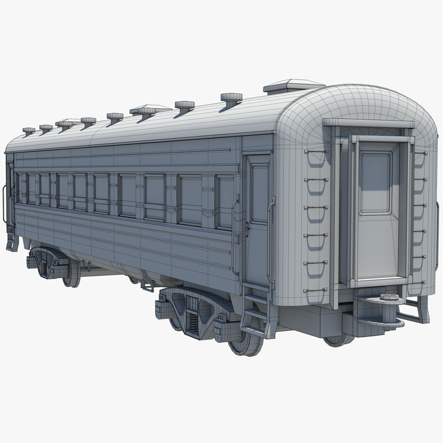 Вагон royalty-free 3d model - Preview no. 11