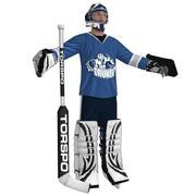 Hockey Goalie LOD1 3d model
