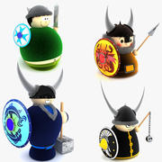 Viking Toy Dolls Collection 3d model