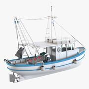 Vissersboot 3d model