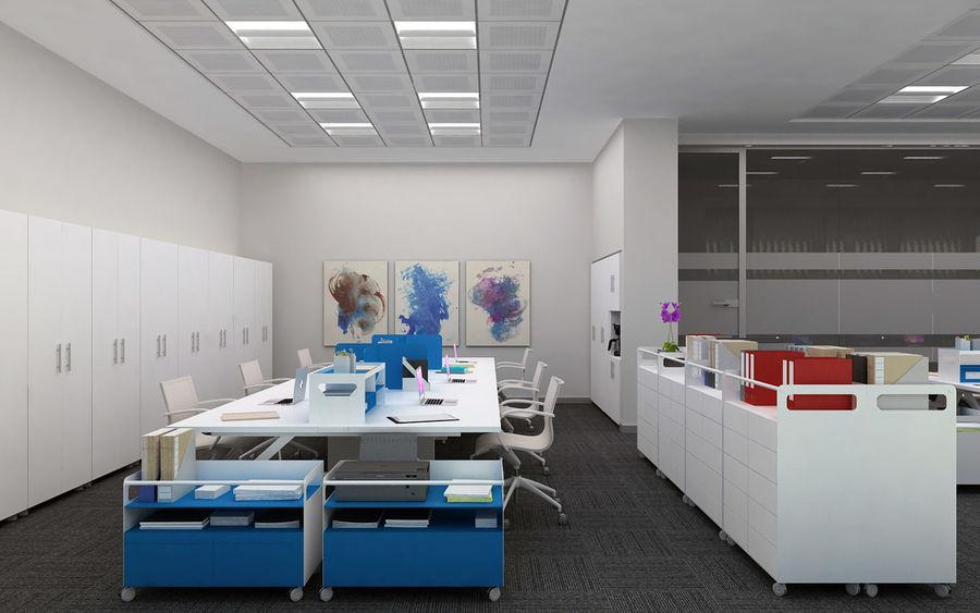 Ofis iç sahne royalty-free 3d model - Preview no. 4