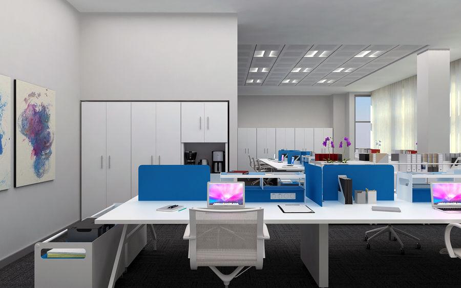 Ofis iç sahne royalty-free 3d model - Preview no. 3