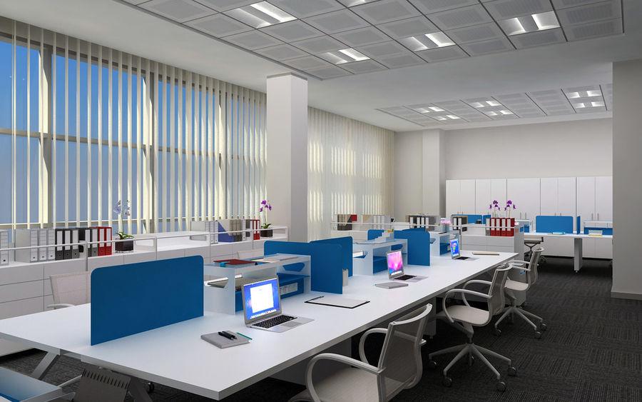 Ofis iç sahne royalty-free 3d model - Preview no. 6