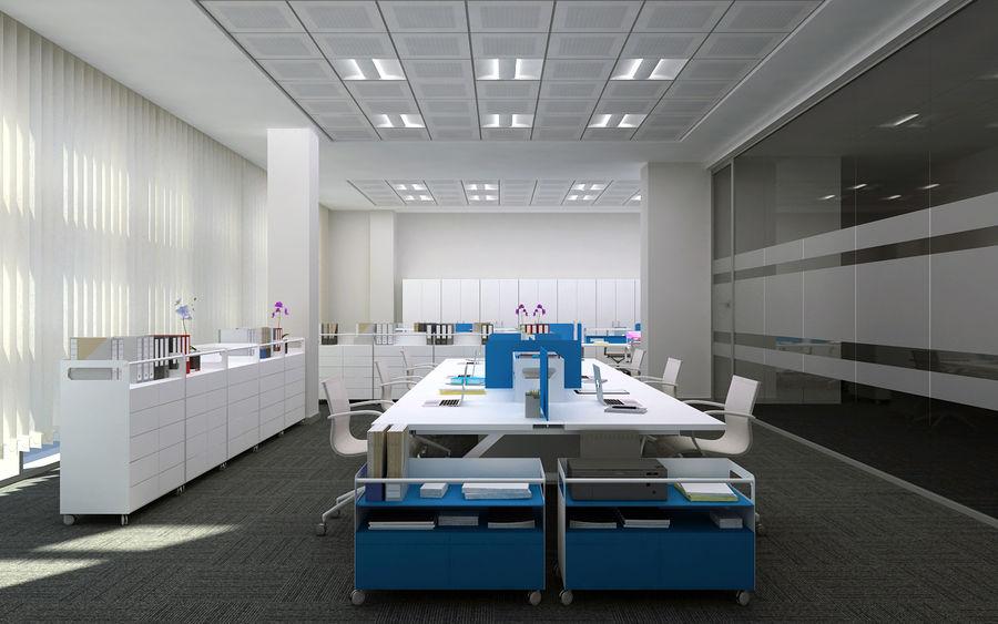 Ofis iç sahne royalty-free 3d model - Preview no. 1
