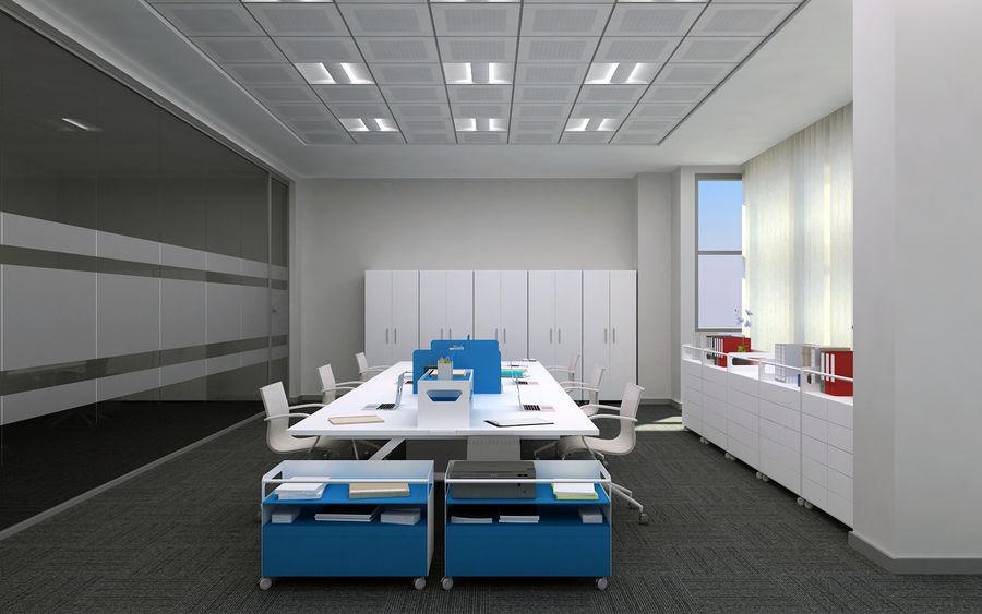 Ofis iç sahne royalty-free 3d model - Preview no. 5