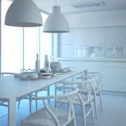 白いキッチン 3d model