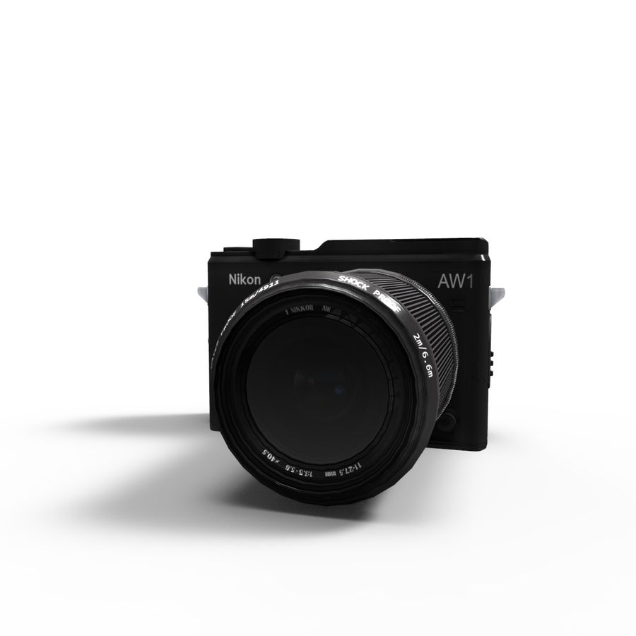 2014Nikon 1 AW1 royalty-free 3d model - Preview no. 10