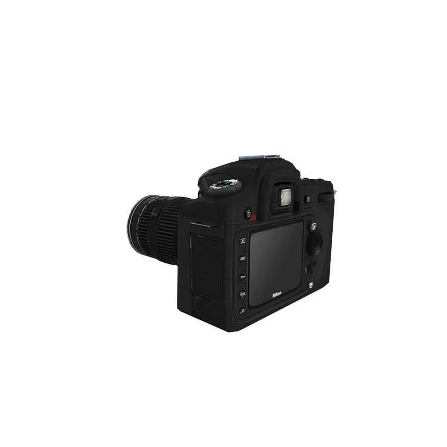 Nikon D90 royalty-free 3d model - Preview no. 1