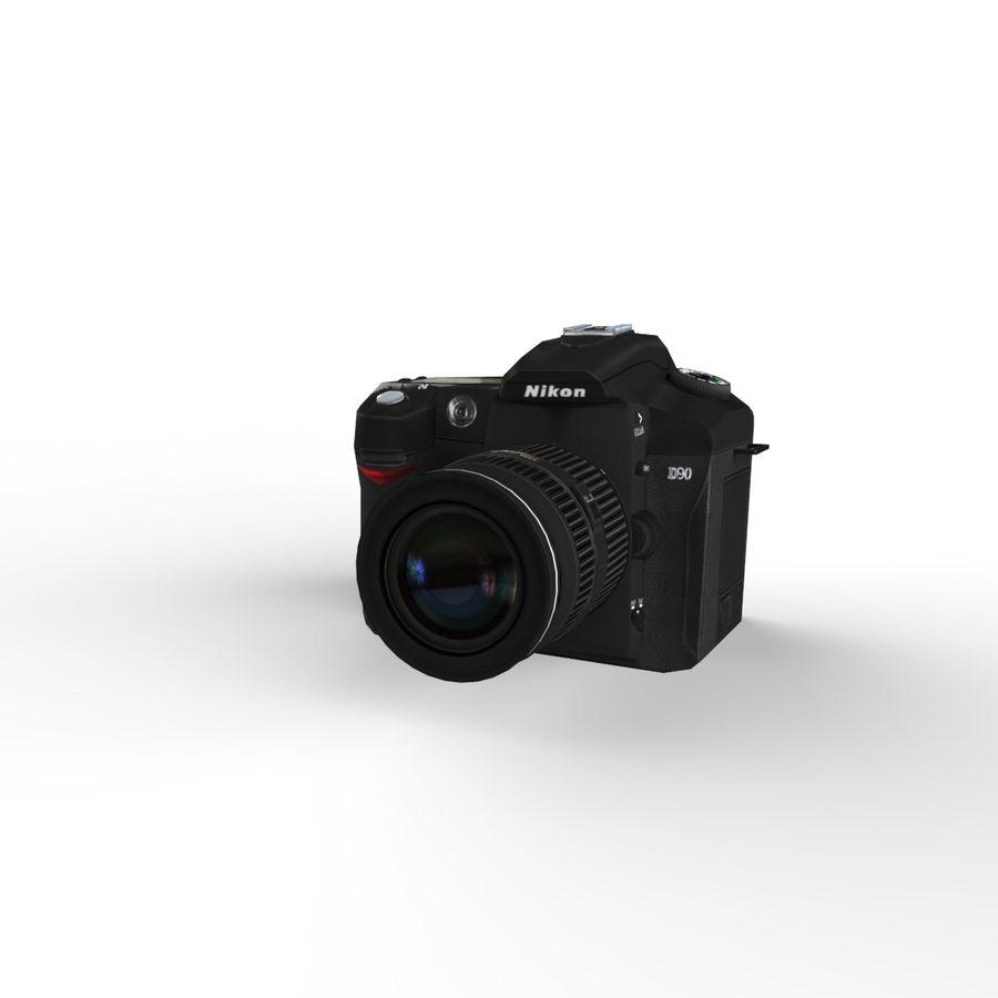 Nikon D90 royalty-free 3d model - Preview no. 10