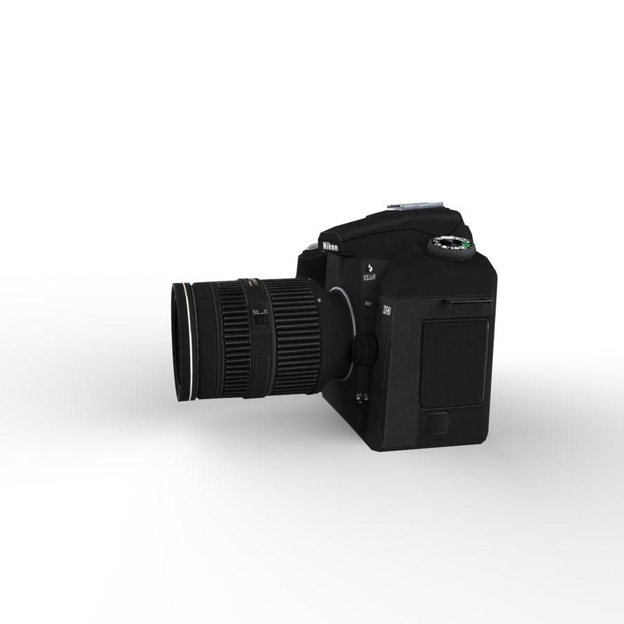 Nikon D90 royalty-free 3d model - Preview no. 11