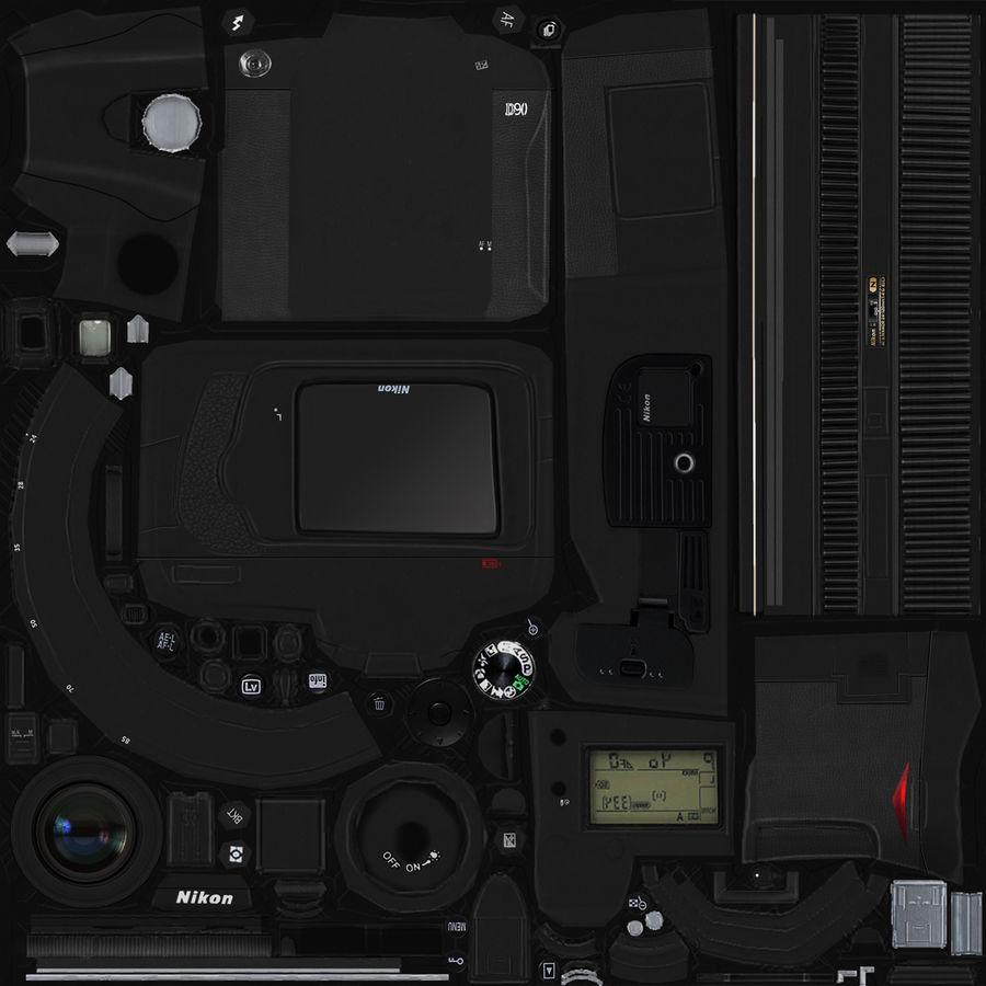 Nikon D90 royalty-free 3d model - Preview no. 19