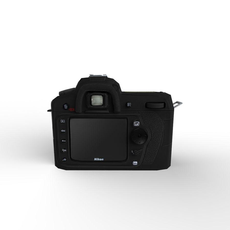 Nikon D90 royalty-free 3d model - Preview no. 4