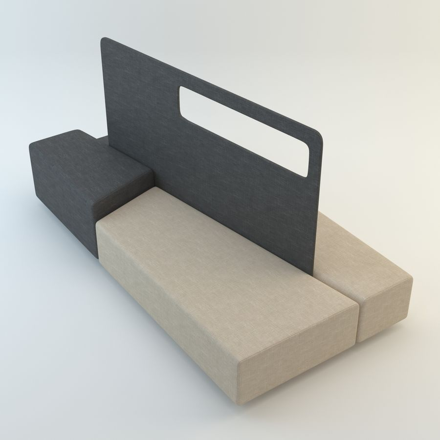 Collection de meubles royalty-free 3d model - Preview no. 21