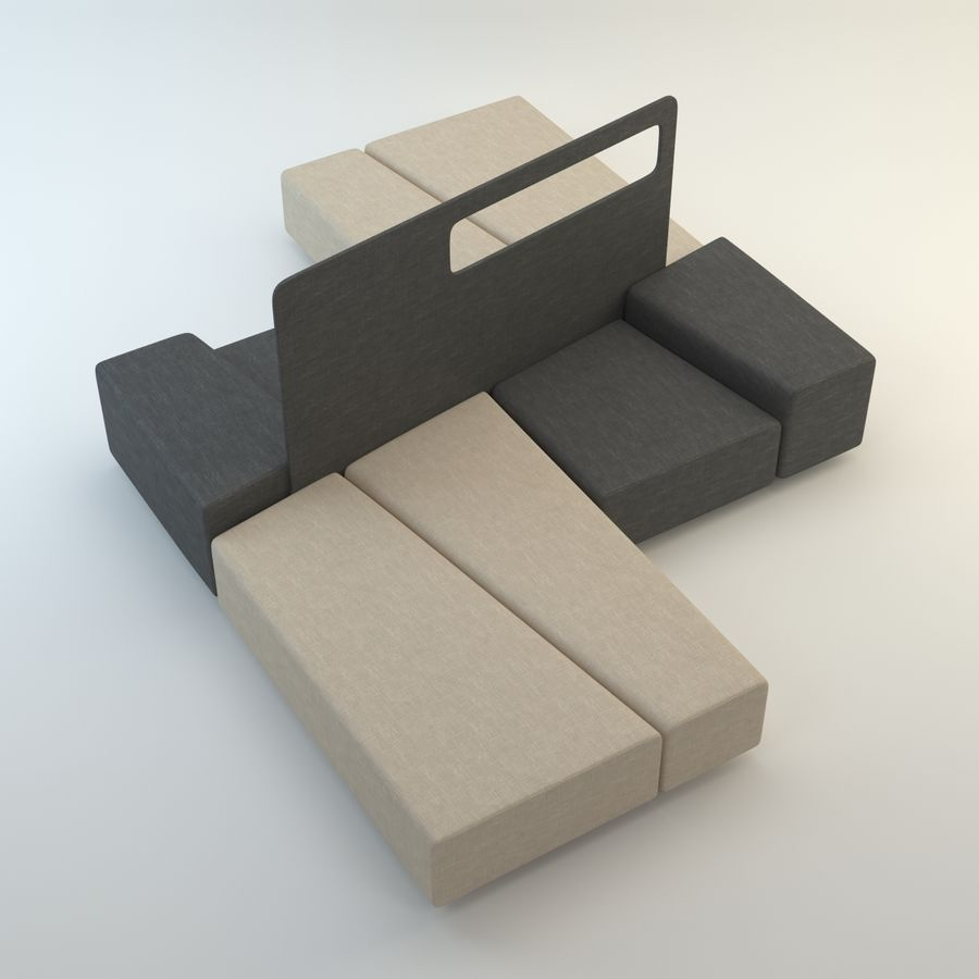 Collection de meubles royalty-free 3d model - Preview no. 23
