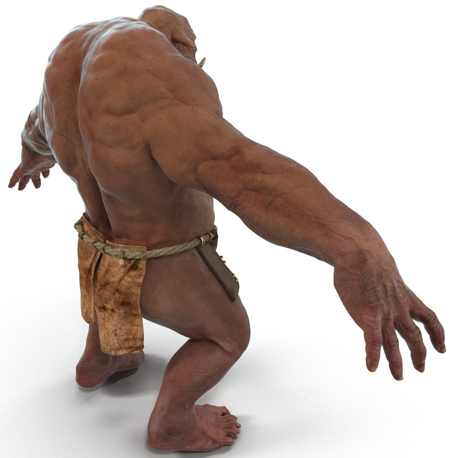 Jaskiniowy Troll royalty-free 3d model - Preview no. 22