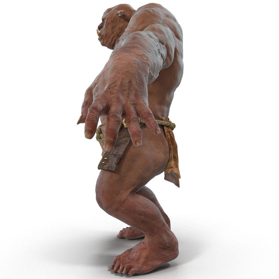 Jaskiniowy Troll royalty-free 3d model - Preview no. 4