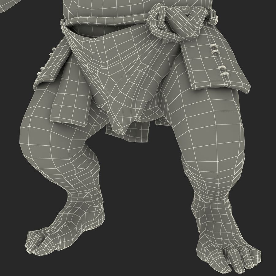 Jaskiniowy Troll royalty-free 3d model - Preview no. 39