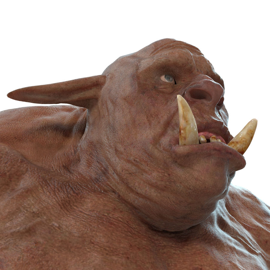 Jaskiniowy Troll royalty-free 3d model - Preview no. 15
