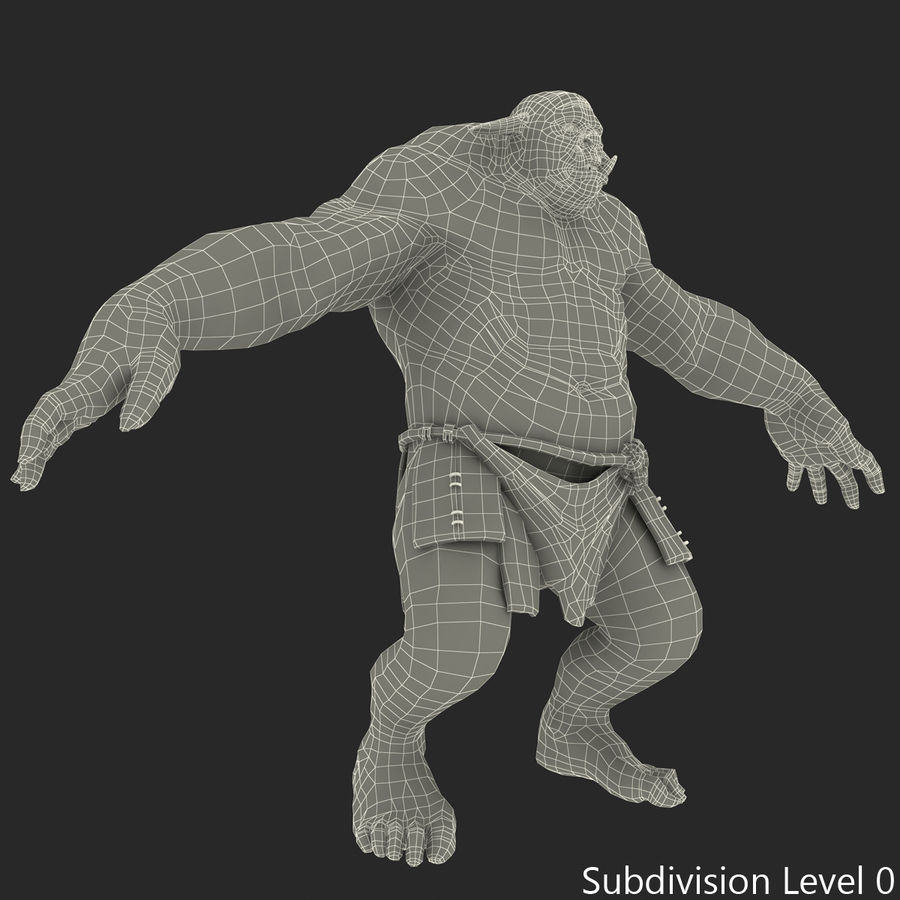 Jaskiniowy Troll royalty-free 3d model - Preview no. 34