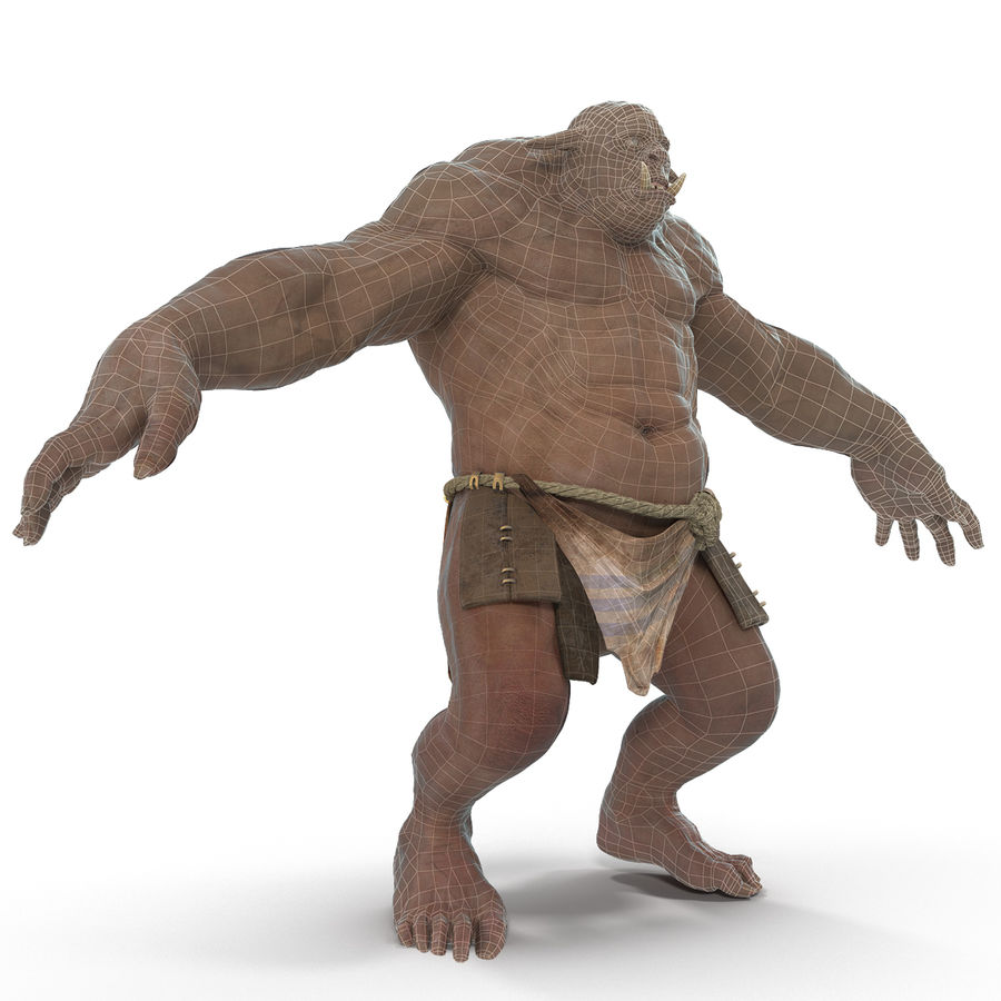 Jaskiniowy Troll royalty-free 3d model - Preview no. 29
