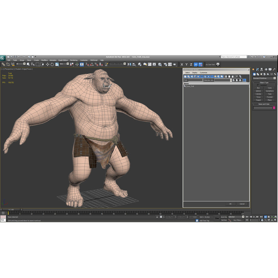 Jaskiniowy Troll royalty-free 3d model - Preview no. 46