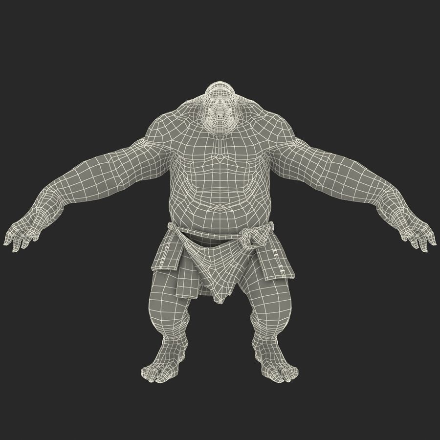 Jaskiniowy Troll royalty-free 3d model - Preview no. 30
