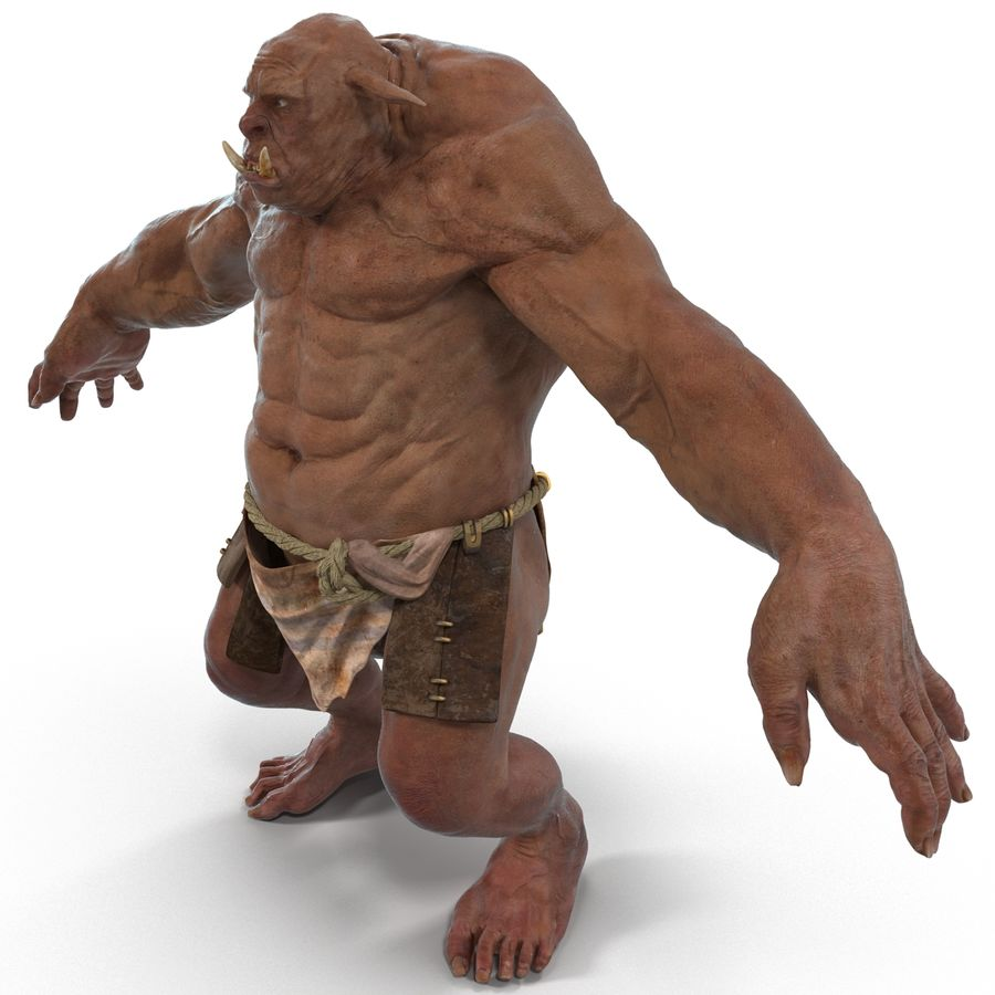 Jaskiniowy Troll royalty-free 3d model - Preview no. 1