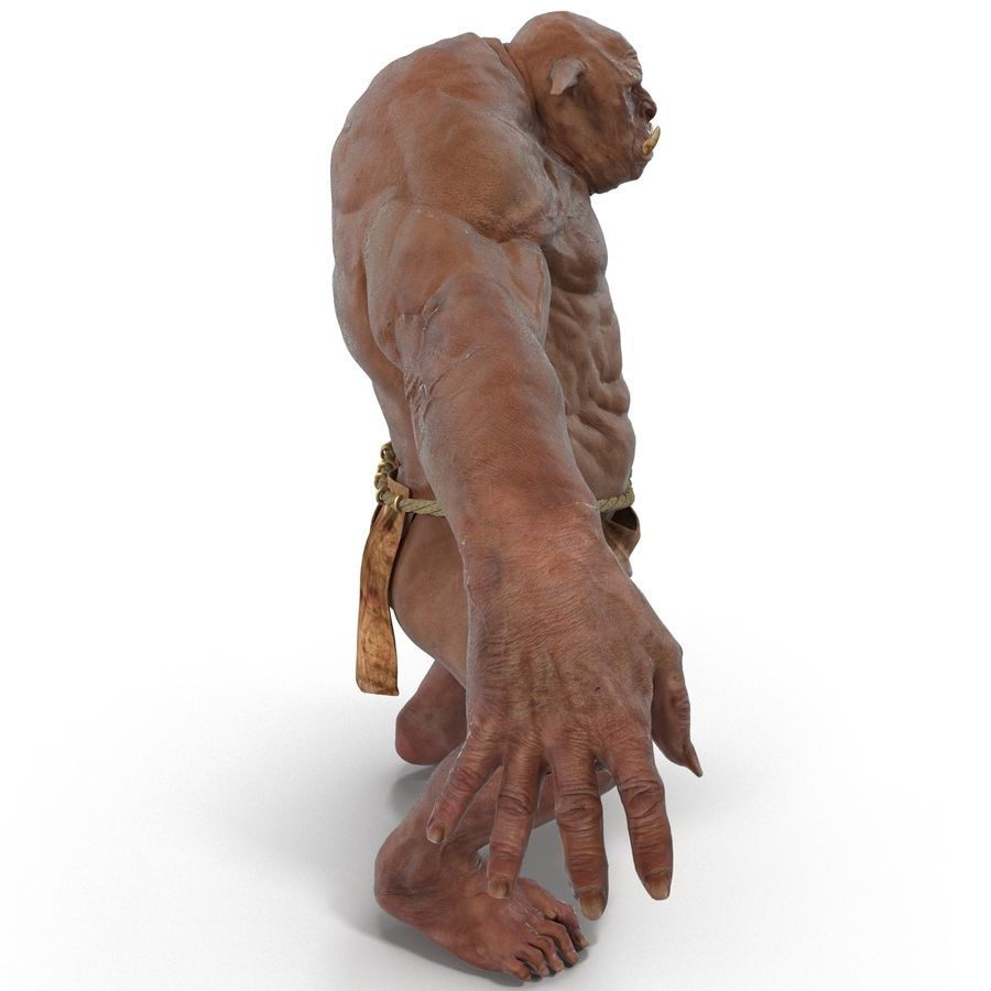 Jaskiniowy Troll royalty-free 3d model - Preview no. 6