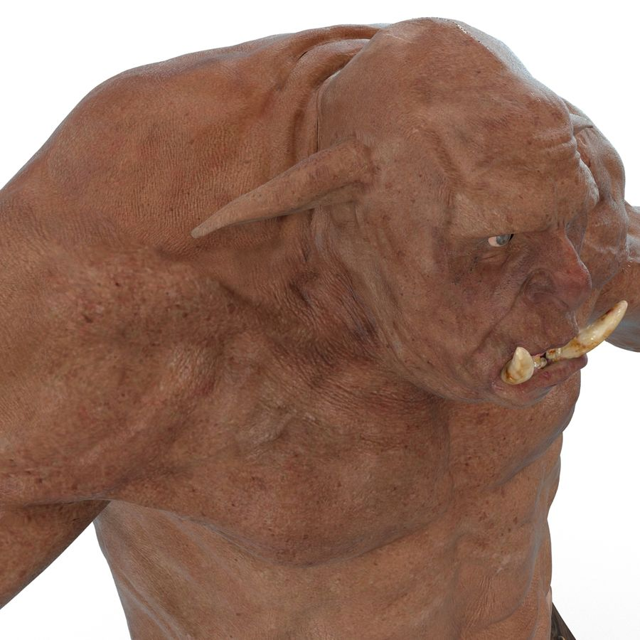 Jaskiniowy Troll royalty-free 3d model - Preview no. 16
