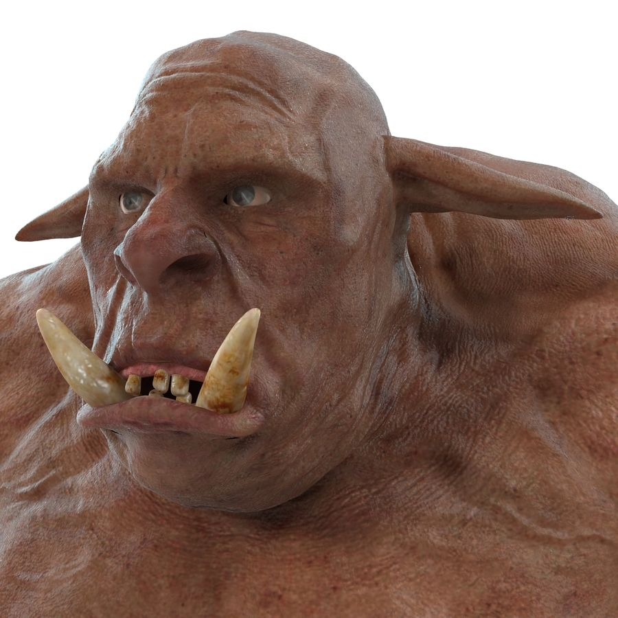 Jaskiniowy Troll royalty-free 3d model - Preview no. 14