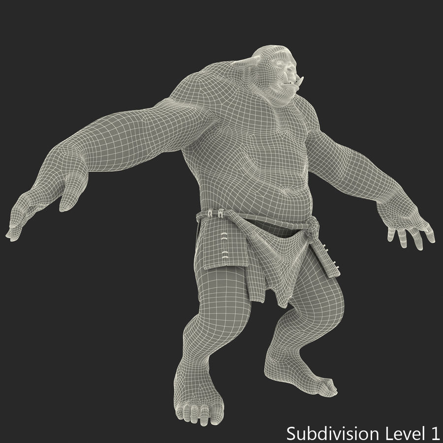 Jaskiniowy Troll royalty-free 3d model - Preview no. 36