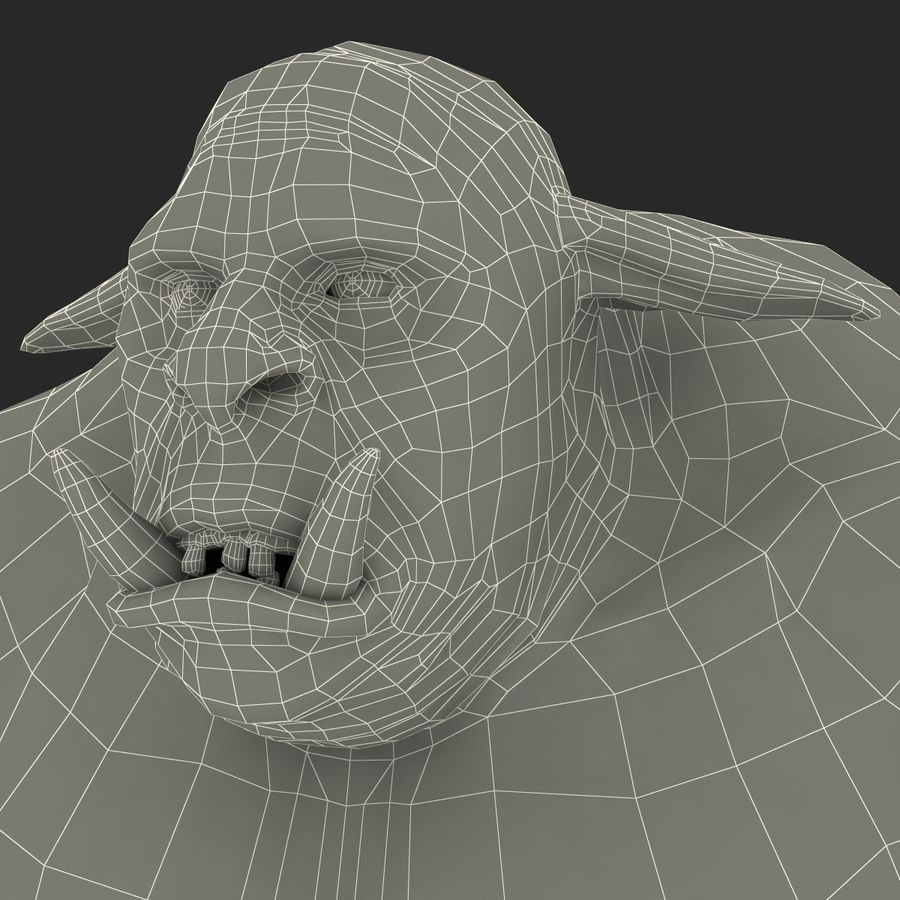 Jaskiniowy Troll royalty-free 3d model - Preview no. 40