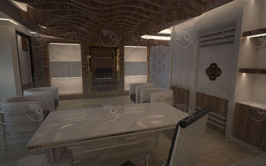 Diseño de interiores de sala de oficina de lujo royalty-free modelo 3d - Preview no. 1