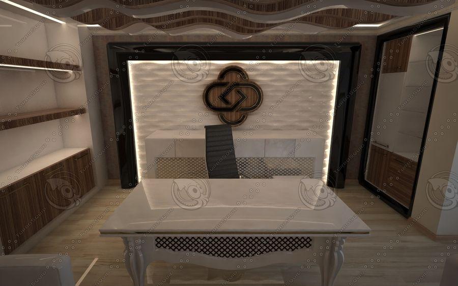 Diseño de interiores de sala de oficina de lujo royalty-free modelo 3d - Preview no. 3