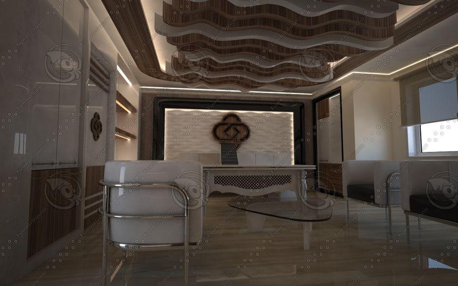Diseño de interiores de sala de oficina de lujo royalty-free modelo 3d - Preview no. 2