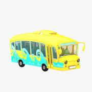 Kreskówka autobus 3d model