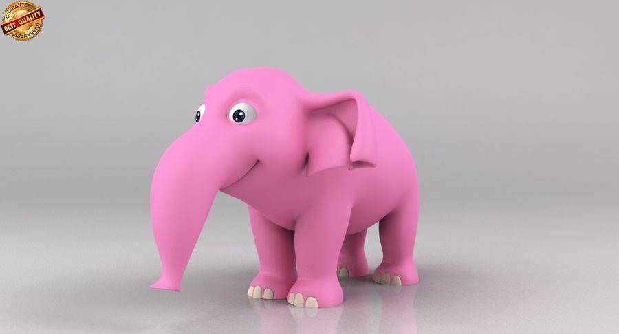 Dessin animé bébé éléphant royalty-free 3d model - Preview no. 2