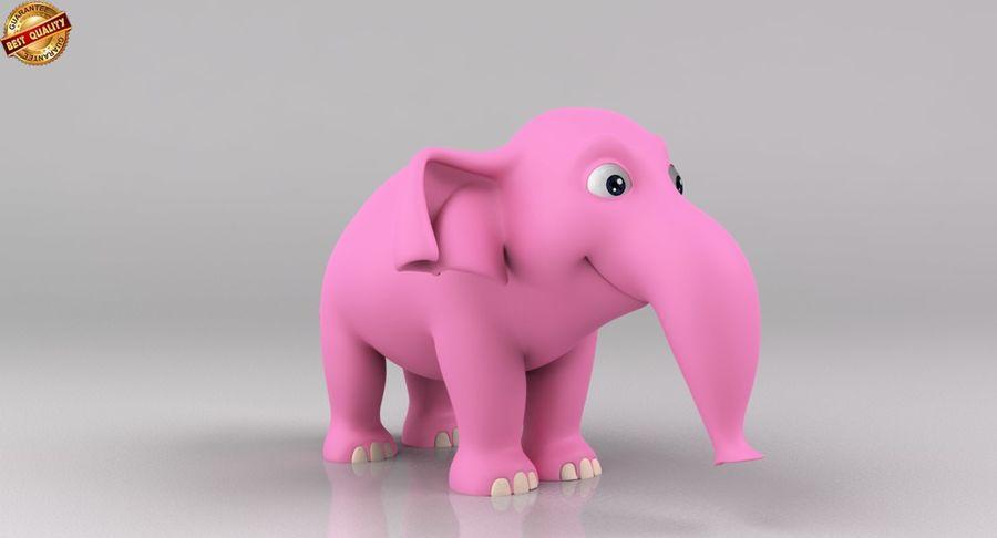Dessin animé bébé éléphant royalty-free 3d model - Preview no. 4