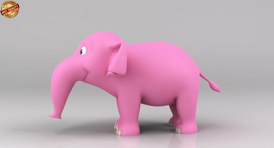 Dessin animé bébé éléphant royalty-free 3d model - Preview no. 9