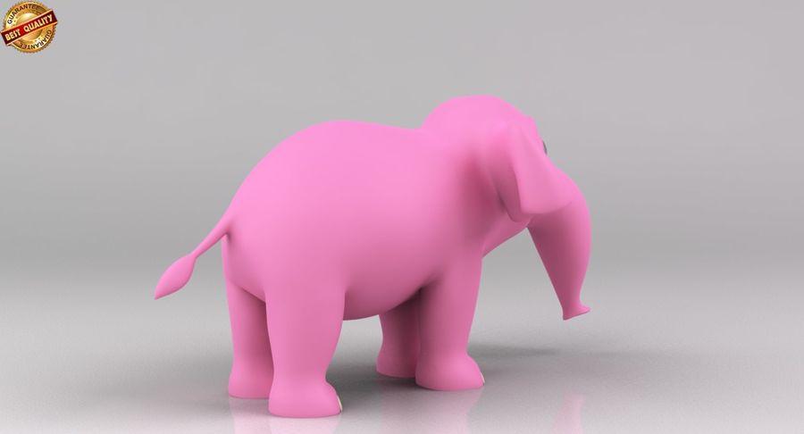 Dessin animé bébé éléphant royalty-free 3d model - Preview no. 6