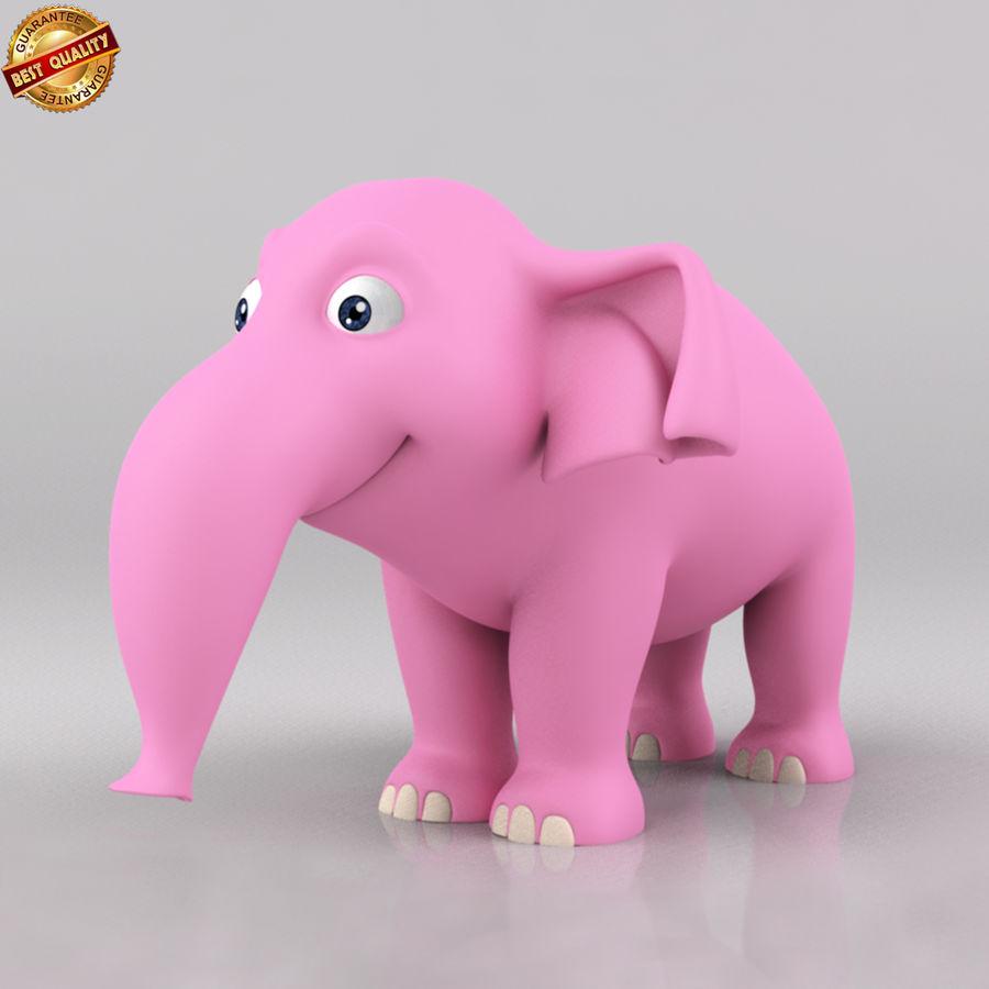 Dessin animé bébé éléphant royalty-free 3d model - Preview no. 1