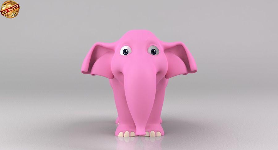 Dessin animé bébé éléphant royalty-free 3d model - Preview no. 3