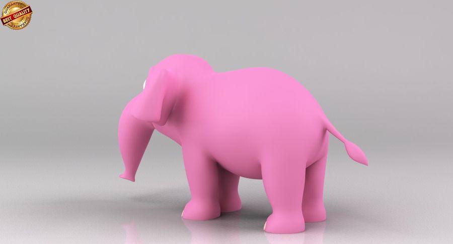 Dessin animé bébé éléphant royalty-free 3d model - Preview no. 8